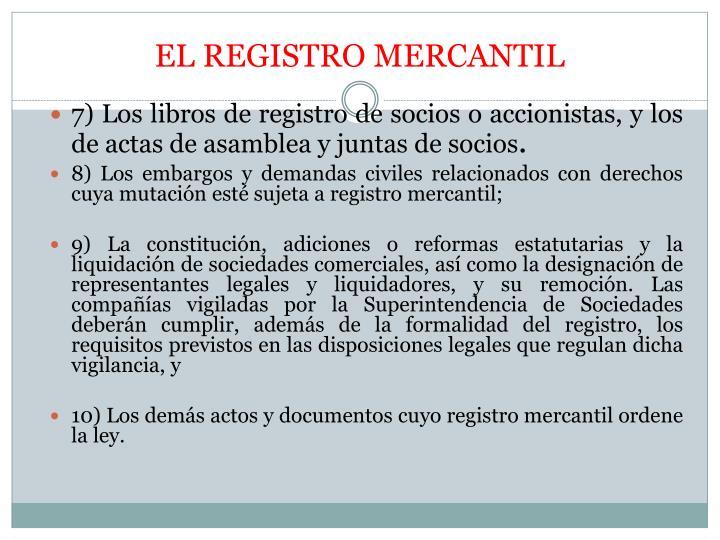 EL REGISTRO MERCANTIL