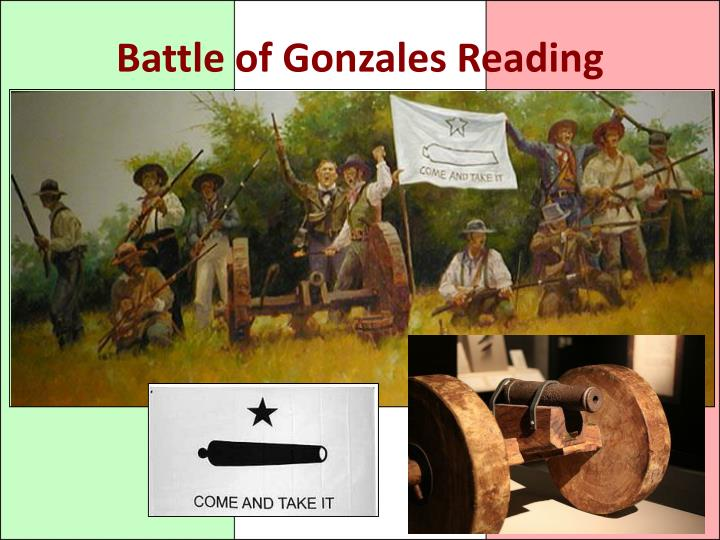 Battle of Gonzales Reading