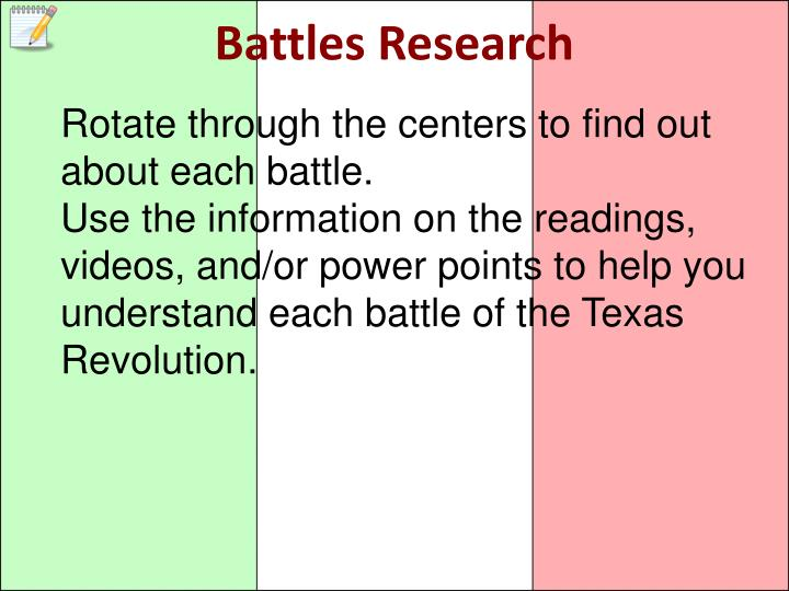 Battles Research