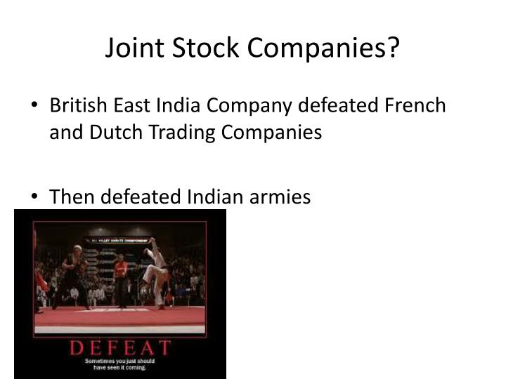 Joint Stock Companies?
