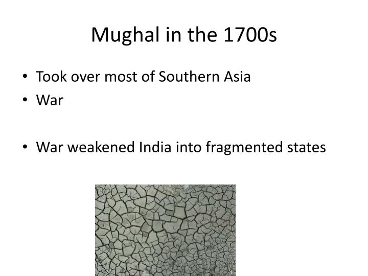 Mughal in the 1700s