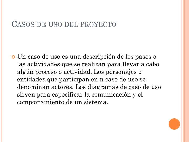 Casos de uso del proyecto