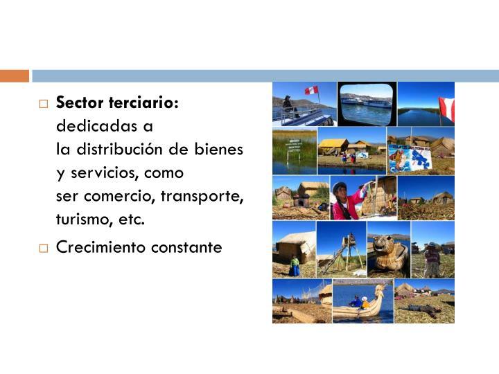 Sector terciario: