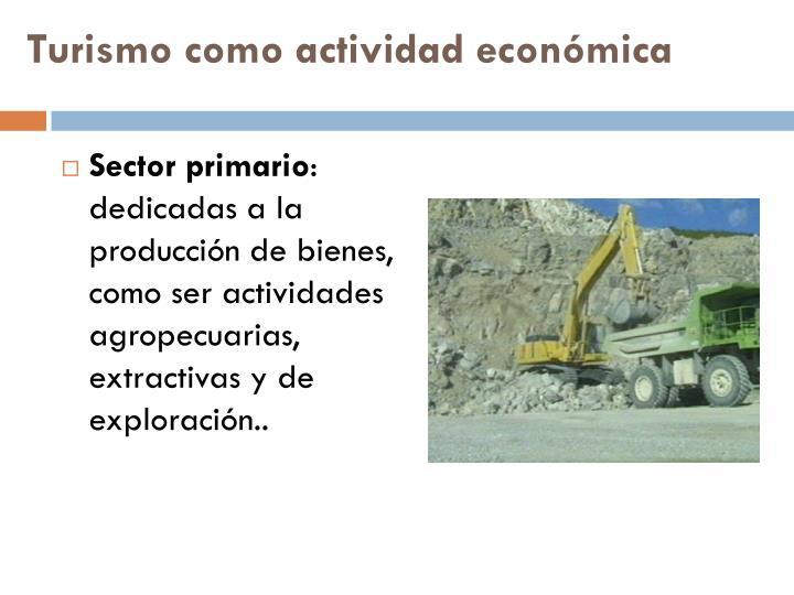 Turismo como actividad económica