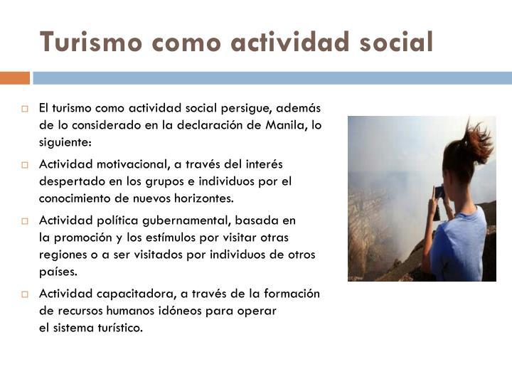 Turismo como actividad social