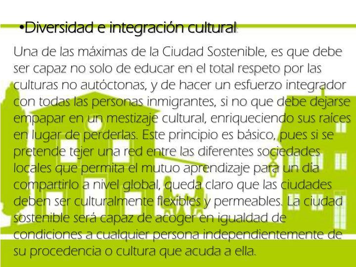 Diversidad e integración cultural