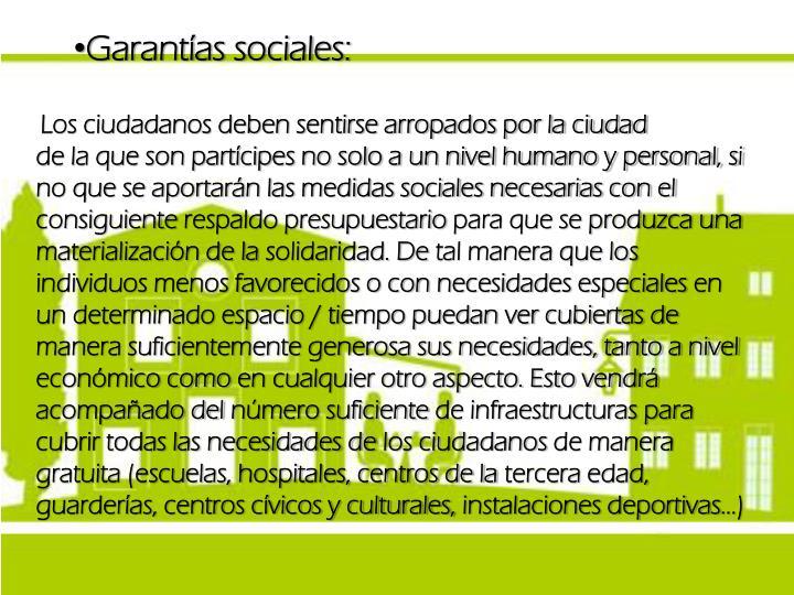 Garantías sociales:
