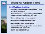 bringing data publication to bodc