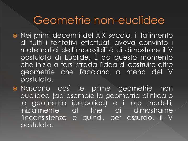Geometrie non-euclidee