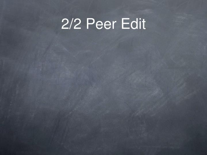 2/2 Peer