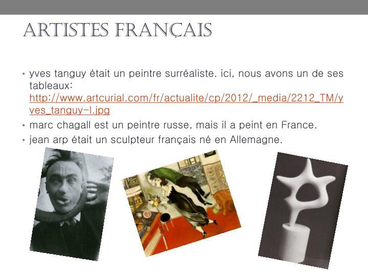 artistes français