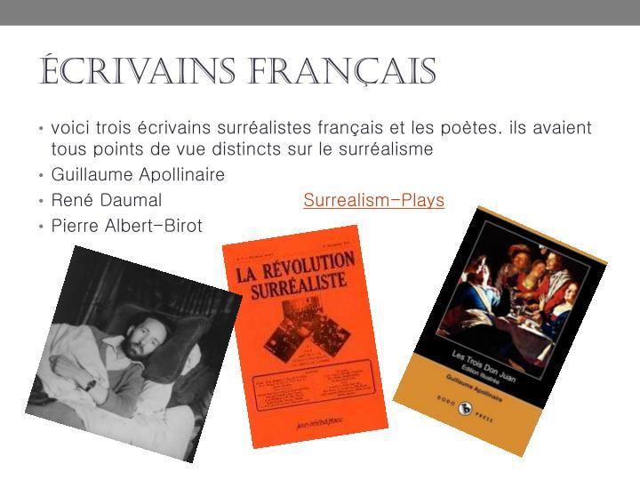 écrivains français