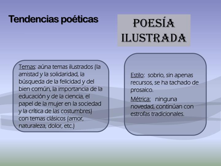 Tendencias poéticas