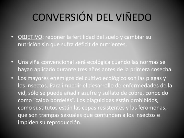 CONVERSIÓN DEL VIÑEDO