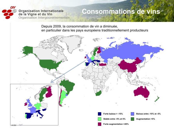 Consommations de vins