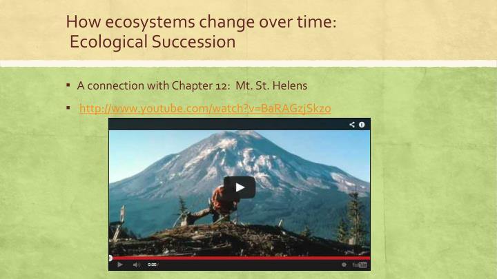 How ecosystems change over time: