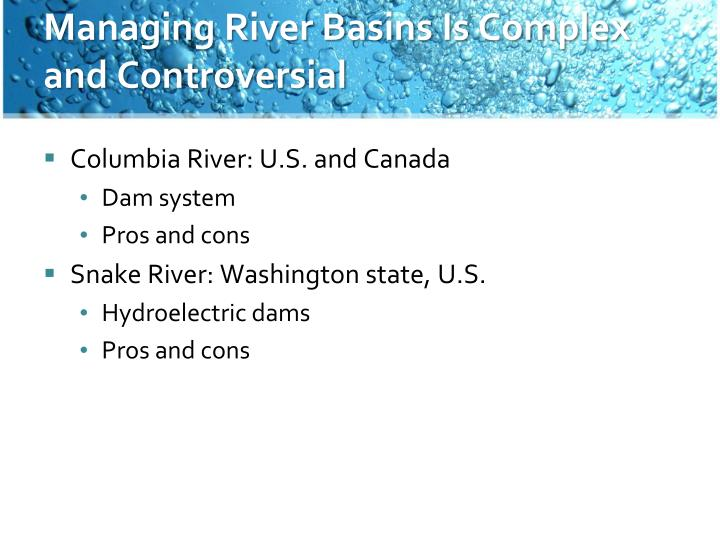 Managing River Basins Is Complex