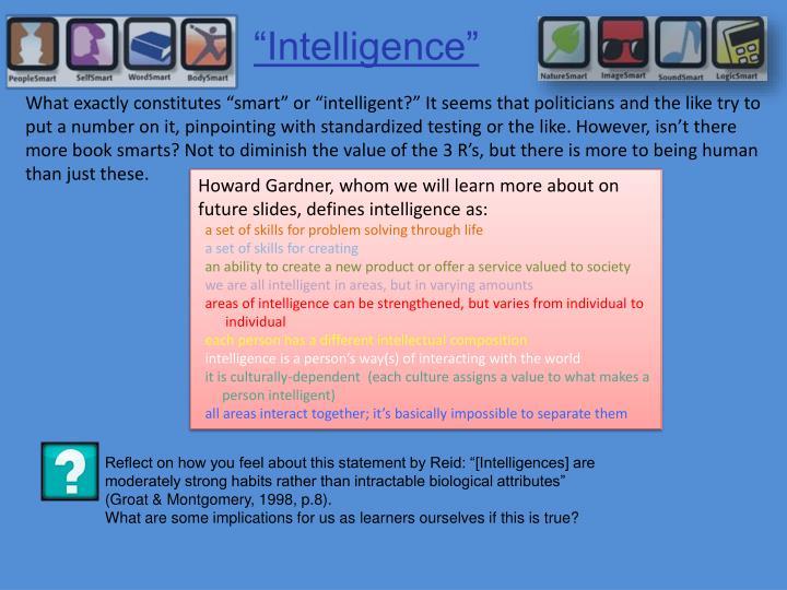 """Intelligence"""