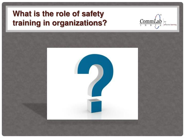 What is the role of safety