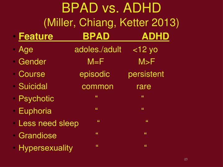 BPAD vs. ADHD