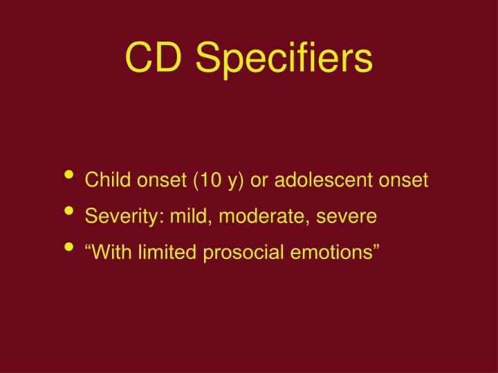 CD Specifiers