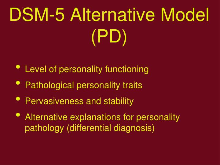 DSM-5 Alternative Model (PD)