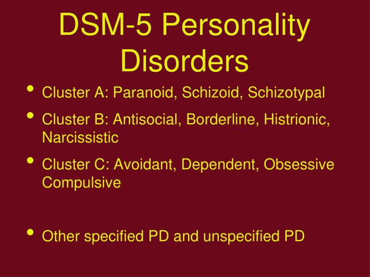 DSM-5 Personality Disorders