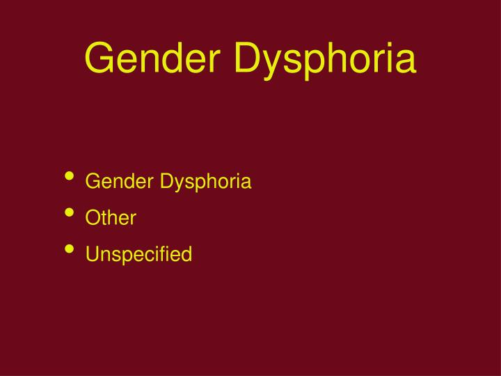 Gender Dysphoria