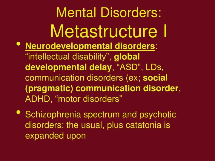 Mental Disorders: