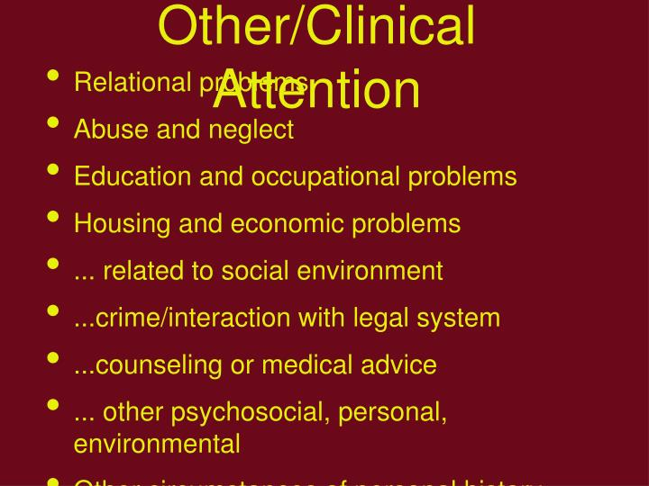 Other/Clinical Attention