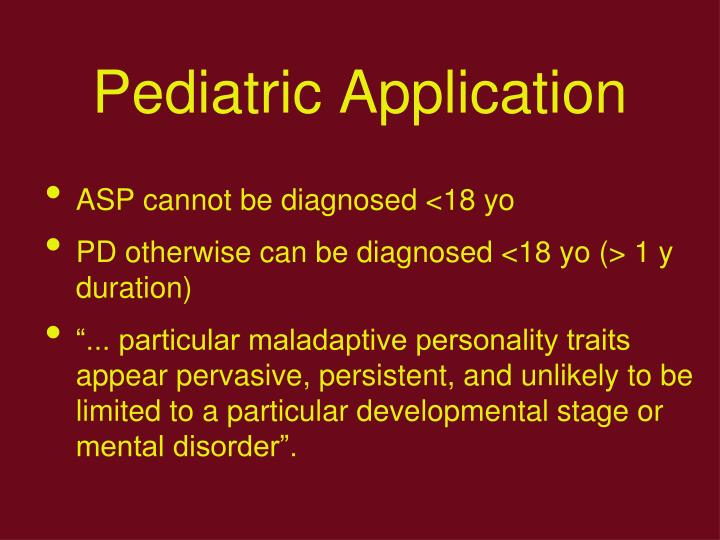 Pediatric Application