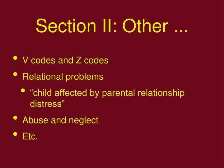 Section II: Other ...