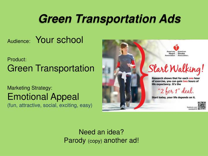 Green Transportation Ads