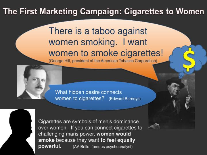 The First Marketing Campaign: Cigarettes to Women
