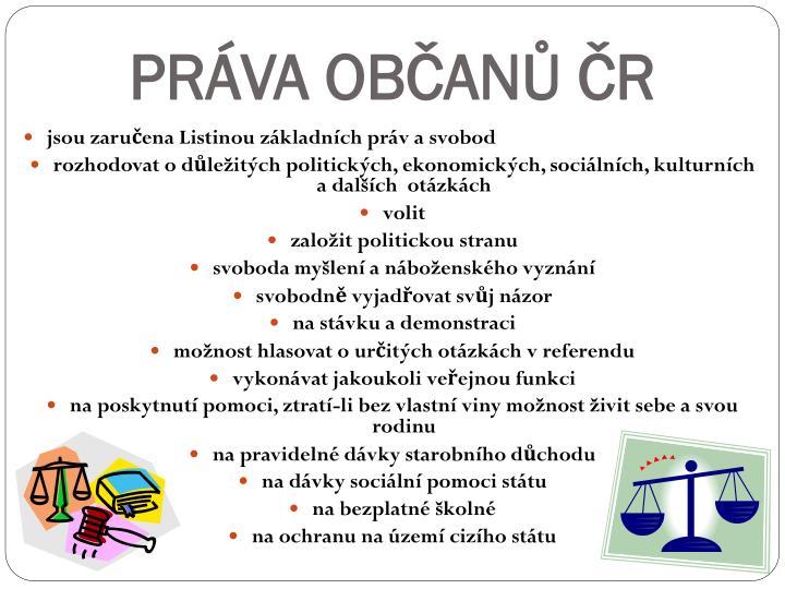 PRÁVA OBČANŮ ČR