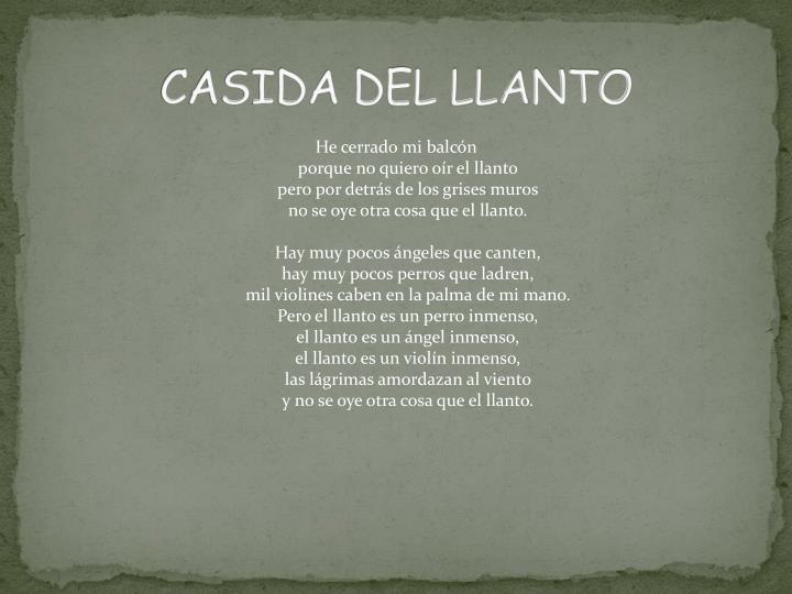 CASIDA DEL LLANTO