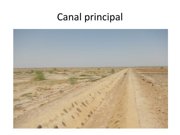 Canal principal
