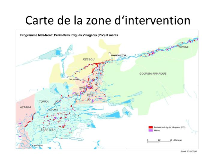 Carte de la zone d'intervention