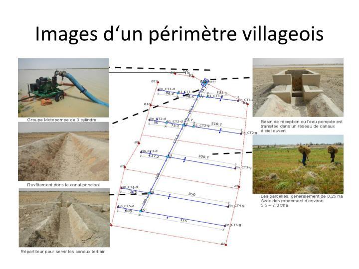Images d'un périmètre villageois