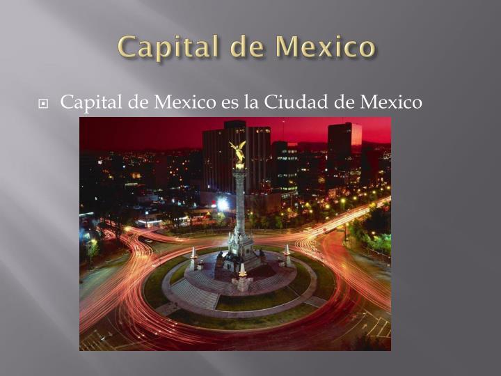 Capital de Mexico