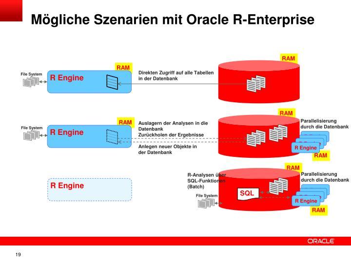 Mögliche Szenarien mit Oracle R-Enterprise