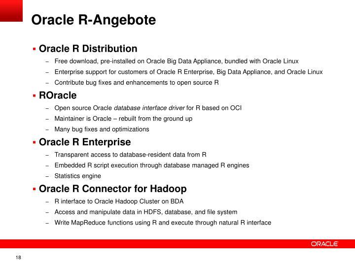 Oracle R-Angebote
