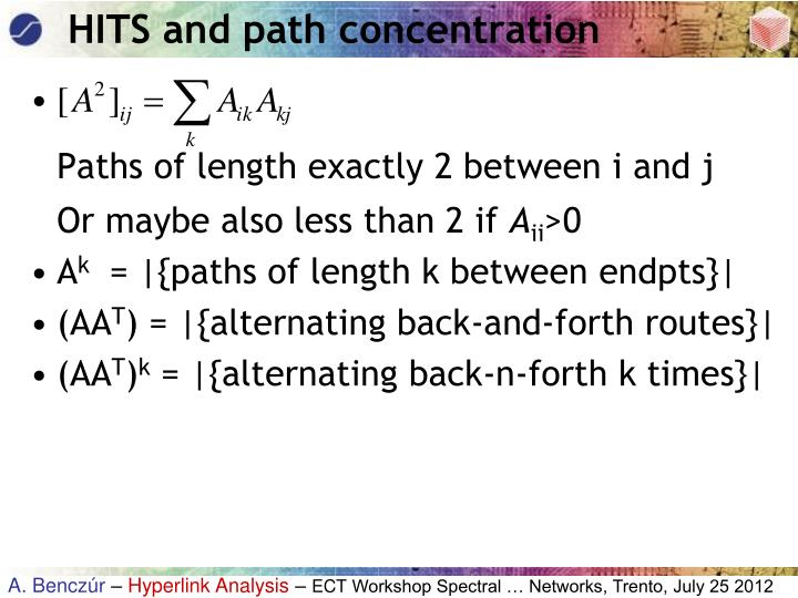 HITS and path concentration