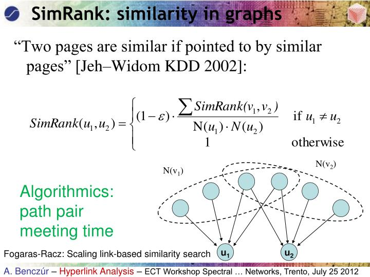 SimRank: similarity in graphs