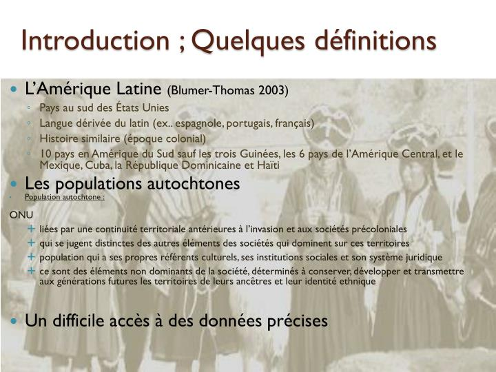 Introduction quelques d finitions
