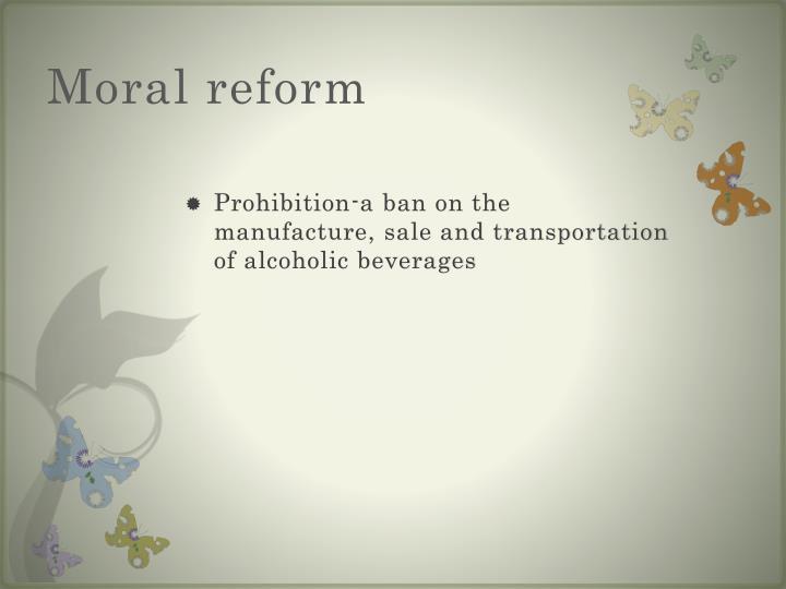 Moral reform