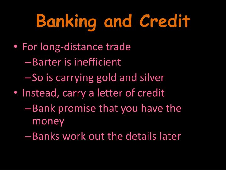 Banking and Credit