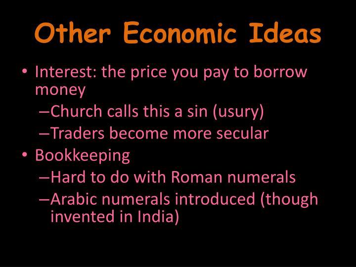 Other Economic Ideas