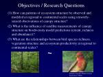 objectives research questions