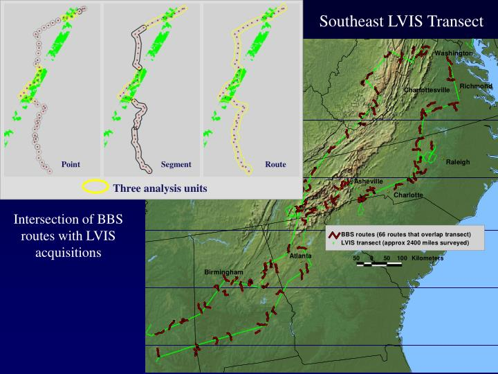 Southeast LVIS Transect